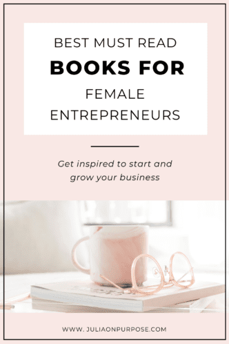 5 best books for female entrepreneurs Pinterest Pin